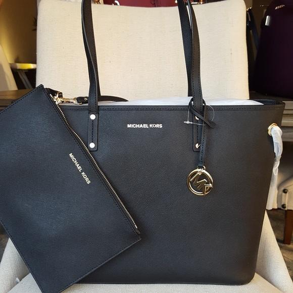 281b763d944f5 NWT Michael Kors drawstring tote black bag purse